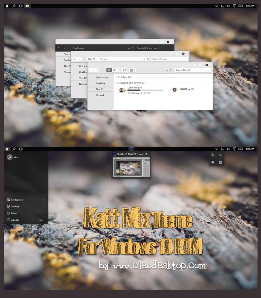 Katt Mix Theme For Windows 10 RTM by cu88