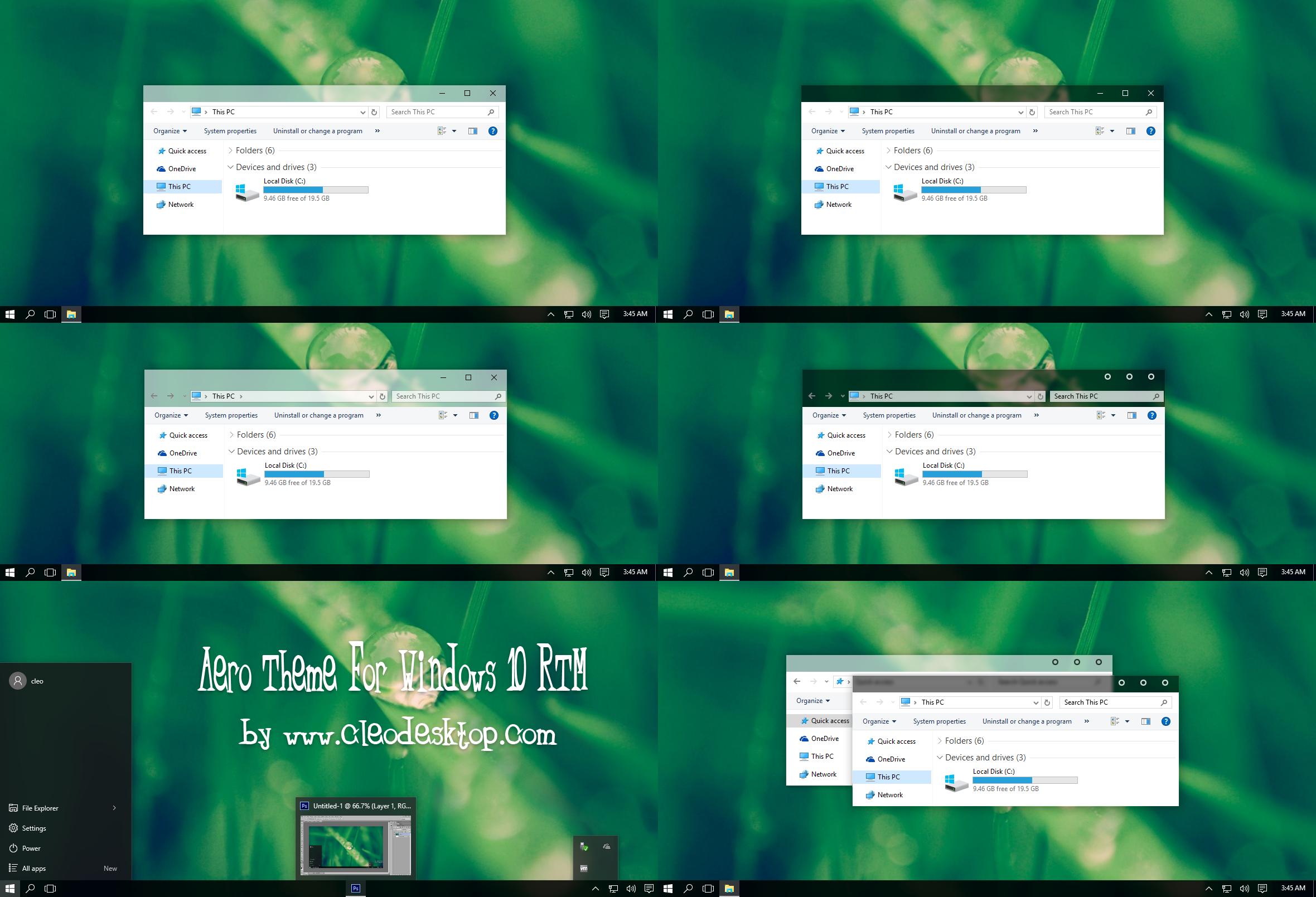 Google themes xp - Aero Theme For Windows 10 Rtm By Cleodesktop