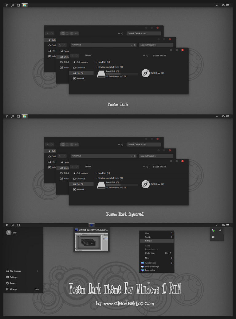 Yosem Dark Theme For Windows 10 RTM by Cleodesktop