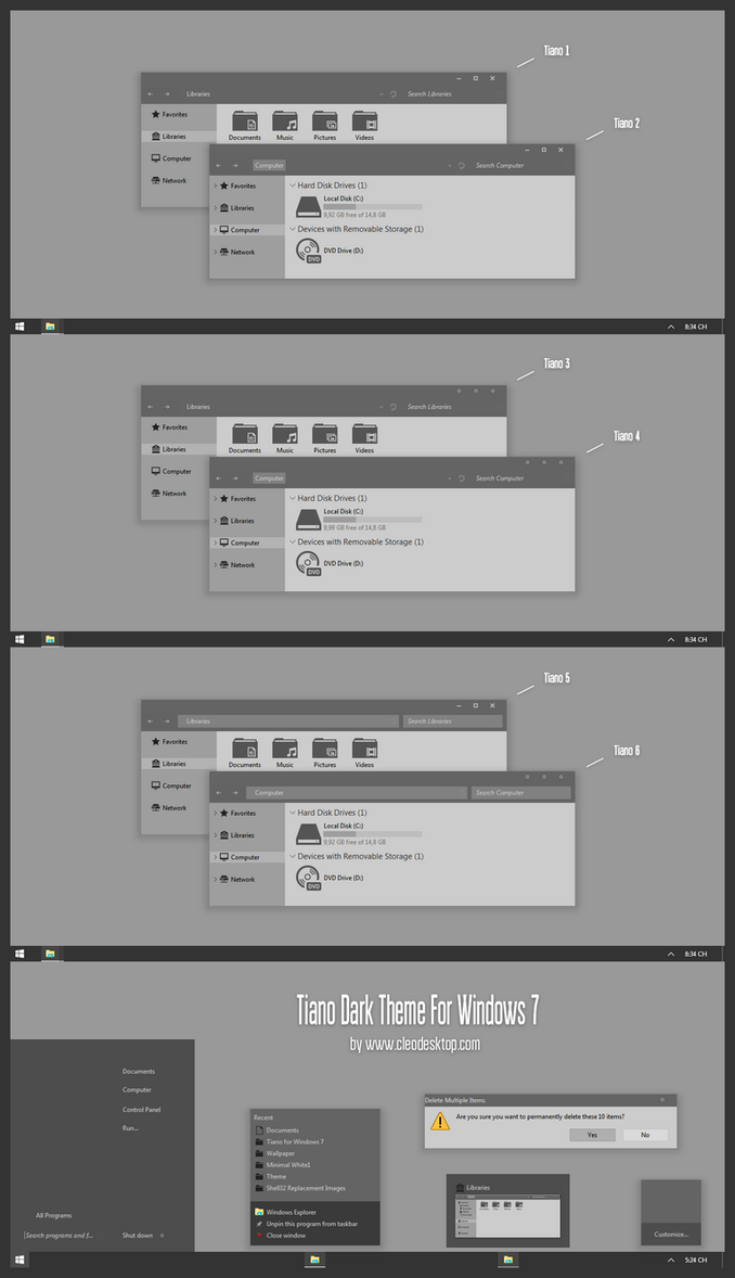 Tiano Theme For Win7