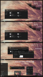 Hover Dark Aero Theme Windows10 November Update by Cleodesktop