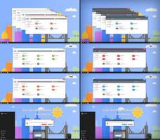 Flattastic Full Theme For Win10 November Update by Cleodesktop