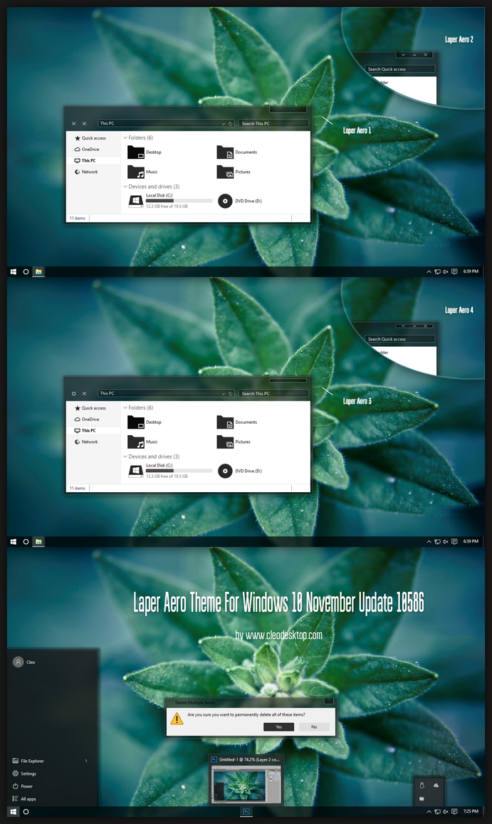 After Light CC Theme for Win10