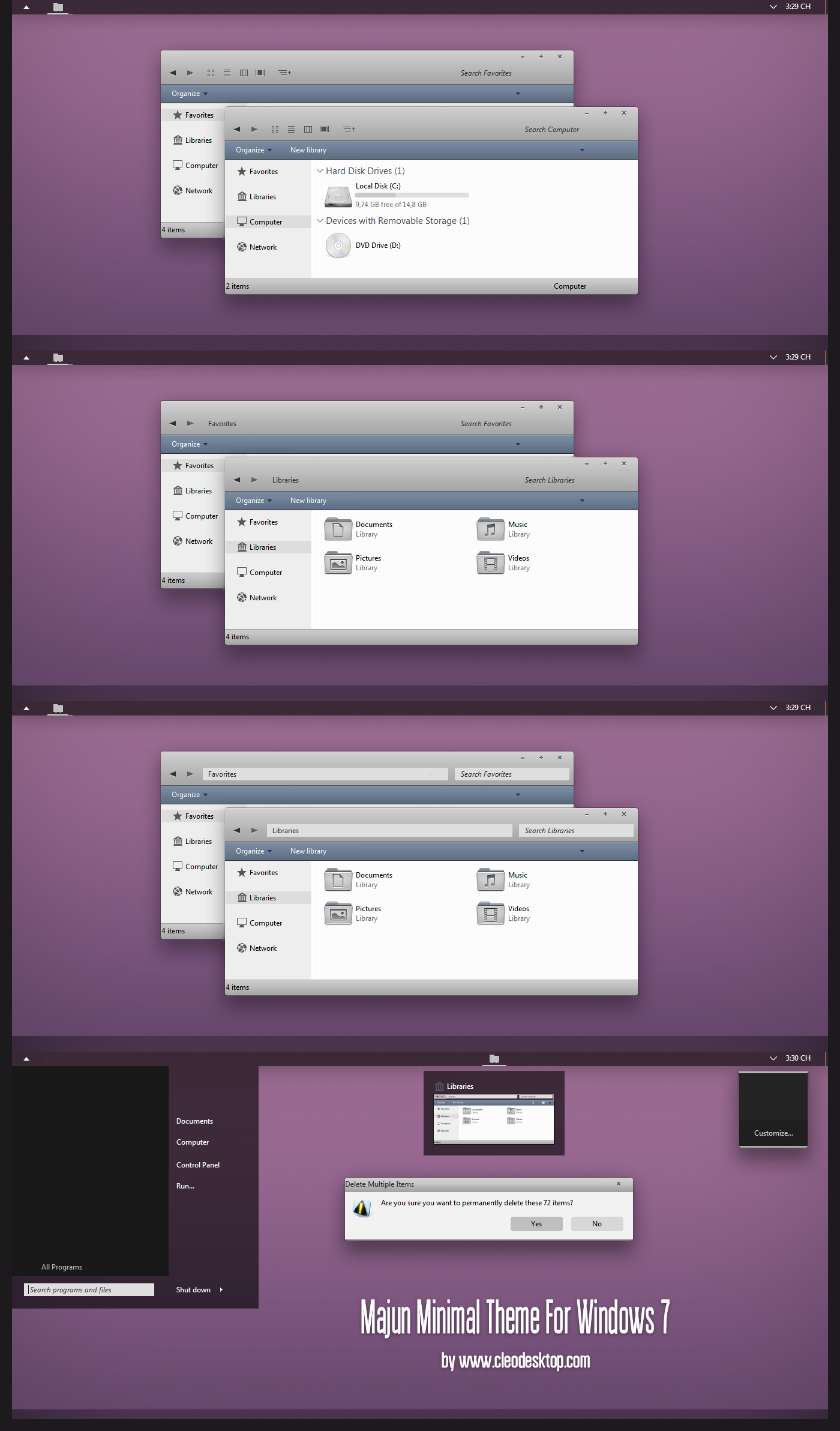 MaJun Minimal Theme For Windows 7