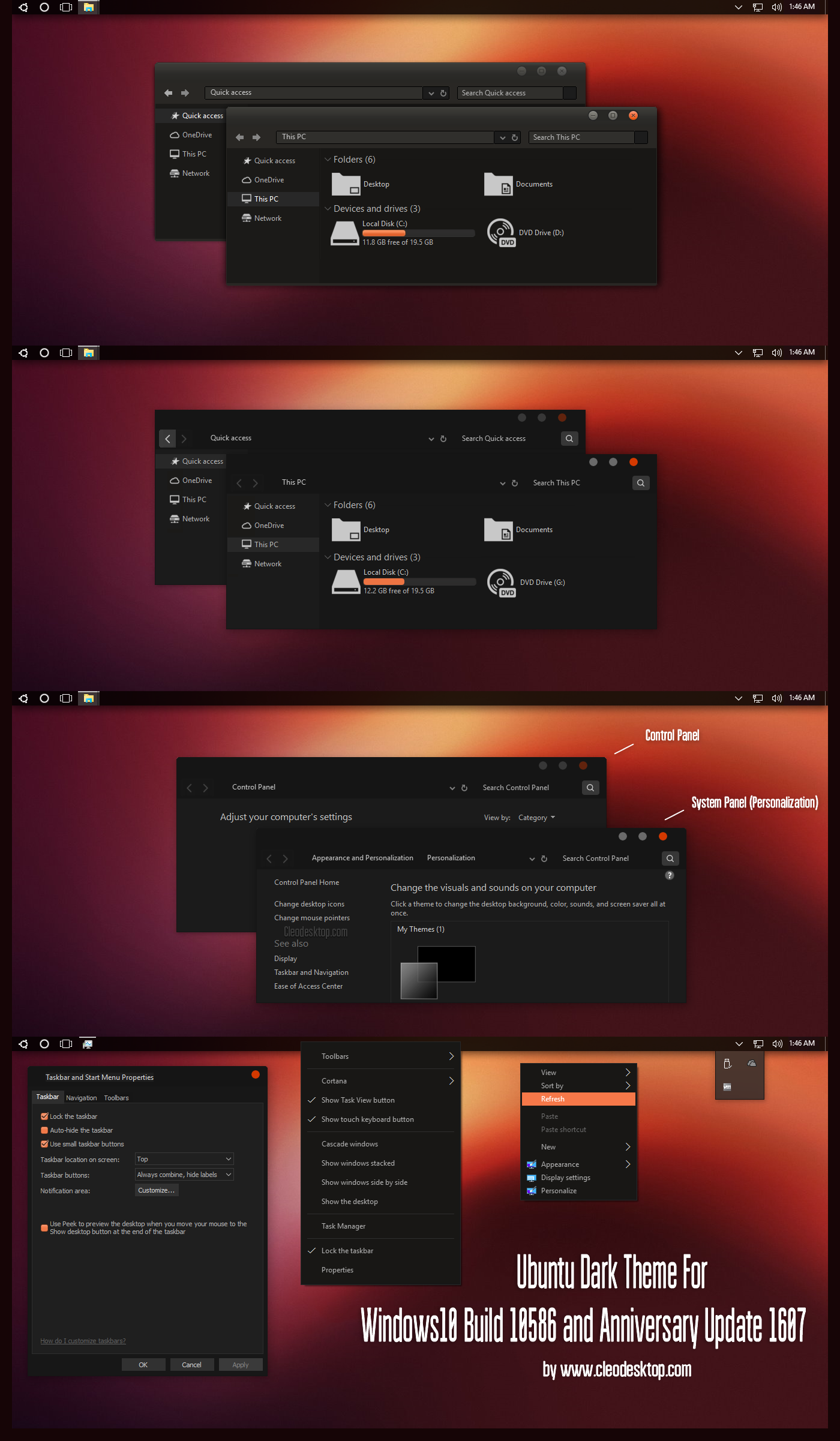 Ubuntu Dark Theme Win10 Anniversary Update1
