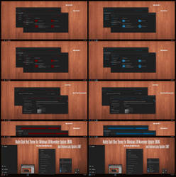 Nulito Dark Blue and Red Theme Win10 Anniversary by Cleodesktop