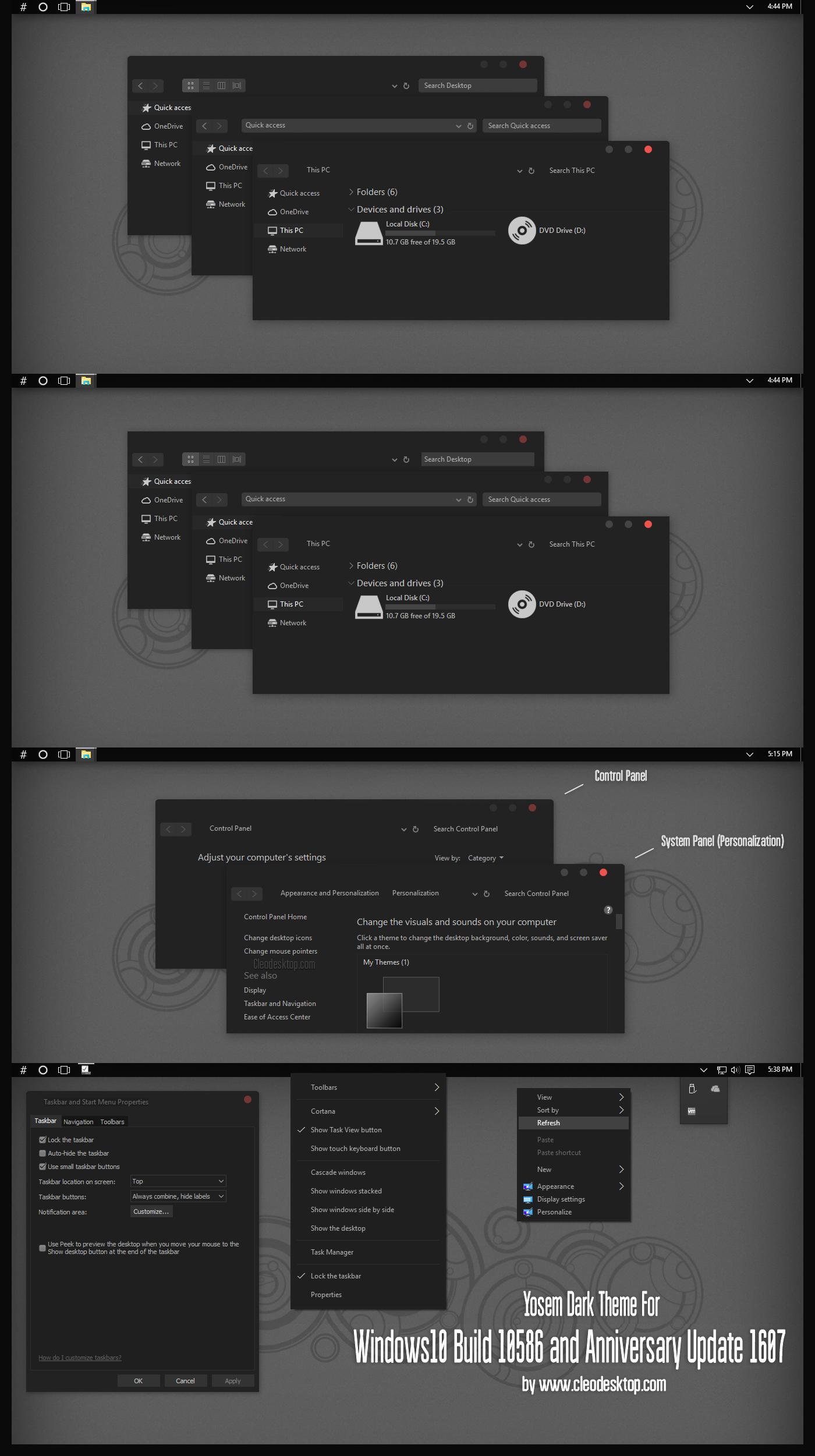 Yosem Dark Theme Windows10 Anniversary Update1