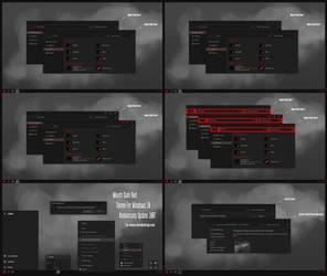 Maxtri Dark Red Theme Win10 Anniversary Update1