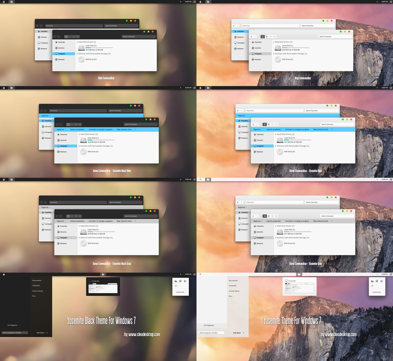 Windows 7 light windows theme