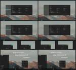 Nost Metro Dark Cyan And Green Theme Windows 10