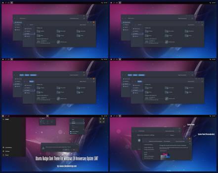 Ubuntu Budgie Dark Theme Win10 Anniversary Update