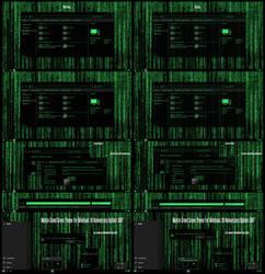 Matrix Grand Green Theme Win10 Anniversary Update2