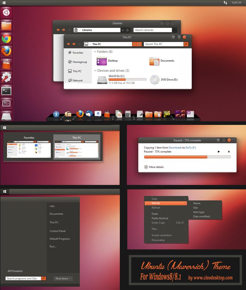 Windows Xp Theme File Software: Ubuntu Theme For Windows 8.1 By Cleodesktop On DeviantArt
