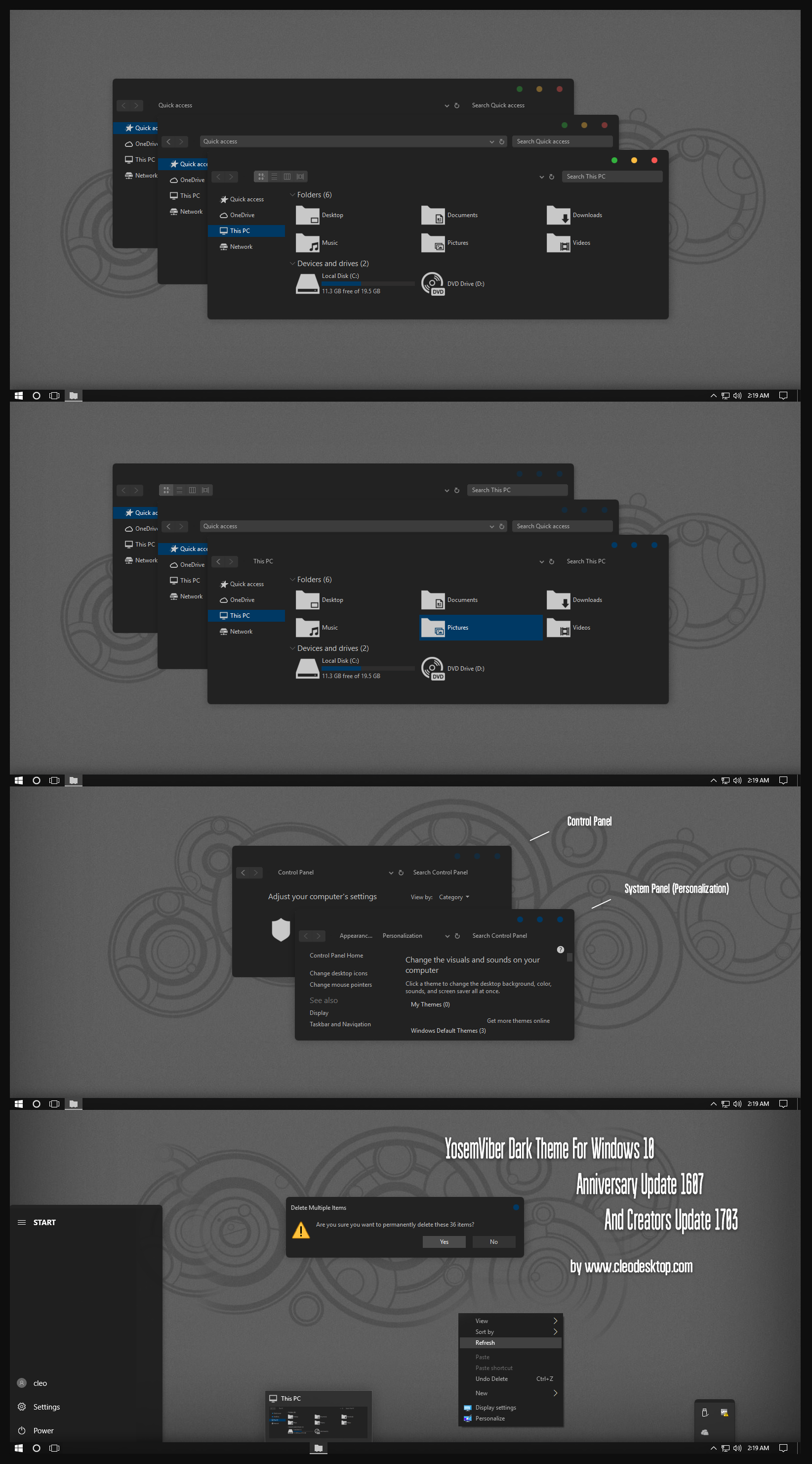 Most Design Ideas Dark Theme Windows 7 Pictures, And