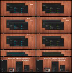 Nulito Dark Cyan, Green Theme Win10 Creators Updat by Cleodesktop