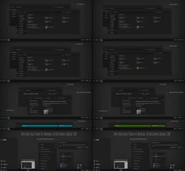 After Dark Cyan, Green Theme Win10 Fall Creators by Cleodesktop