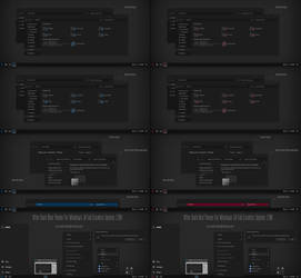 After Dark Blue and Red Theme Win10 Fall Creators by Cleodesktop