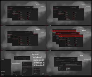 Maxtri Dark Red Theme Win10 Fall Creators by Cleodesktop