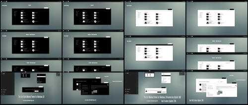 The Cost Black and White Minimal Theme Win10 Fall by Cleodesktop