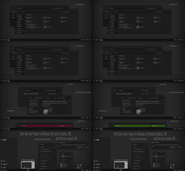 After Dark Red and Green Theme Win10 Fall Creators by Cleodesktop