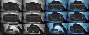 Dark Blue and Red Alpha Theme Win10 Fall Creators