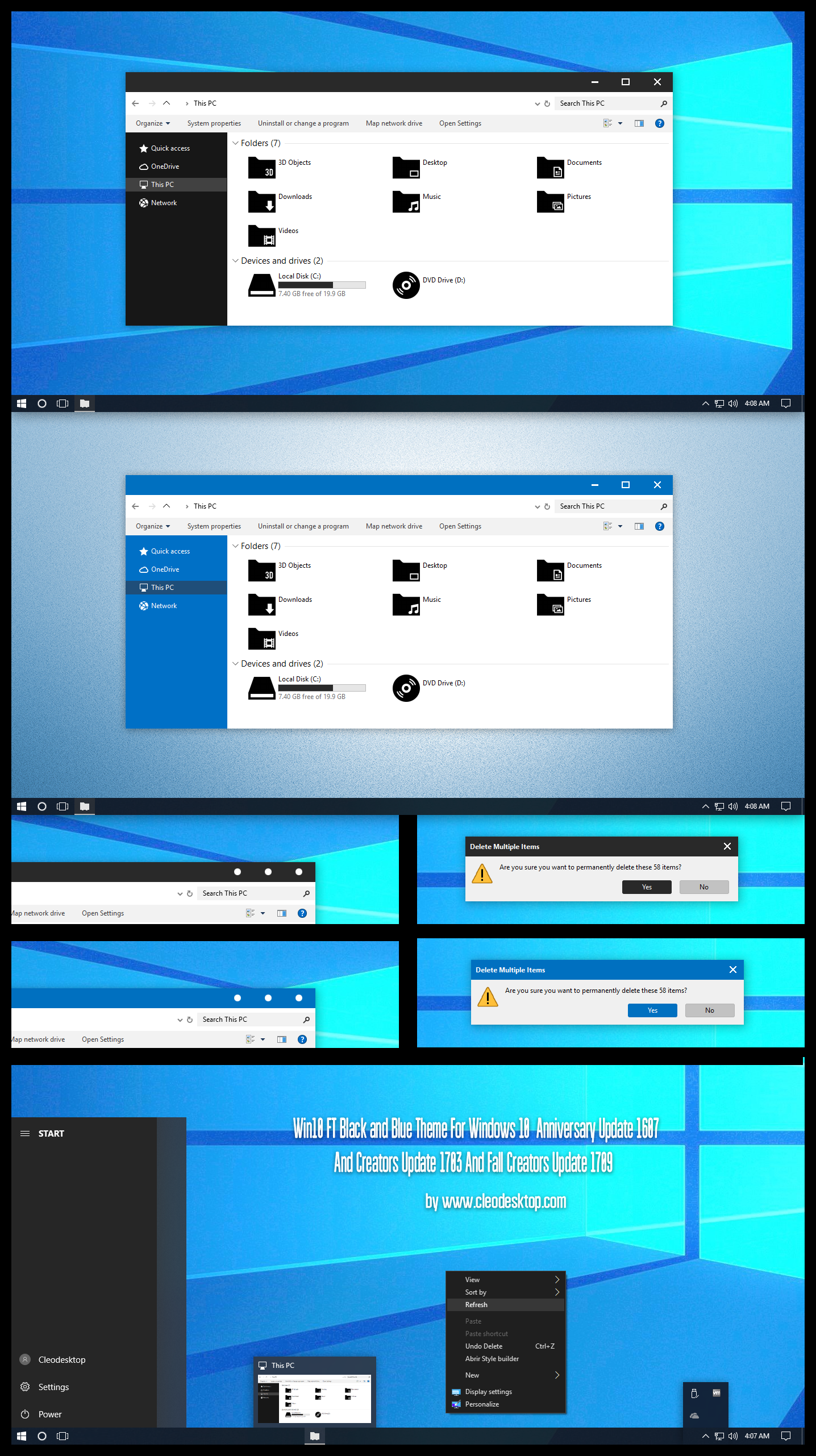 Win10 FT Black and Blue Theme  Windows10