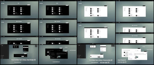 The Cost Black and White Minimal Theme Win10 April by Cleodesktop
