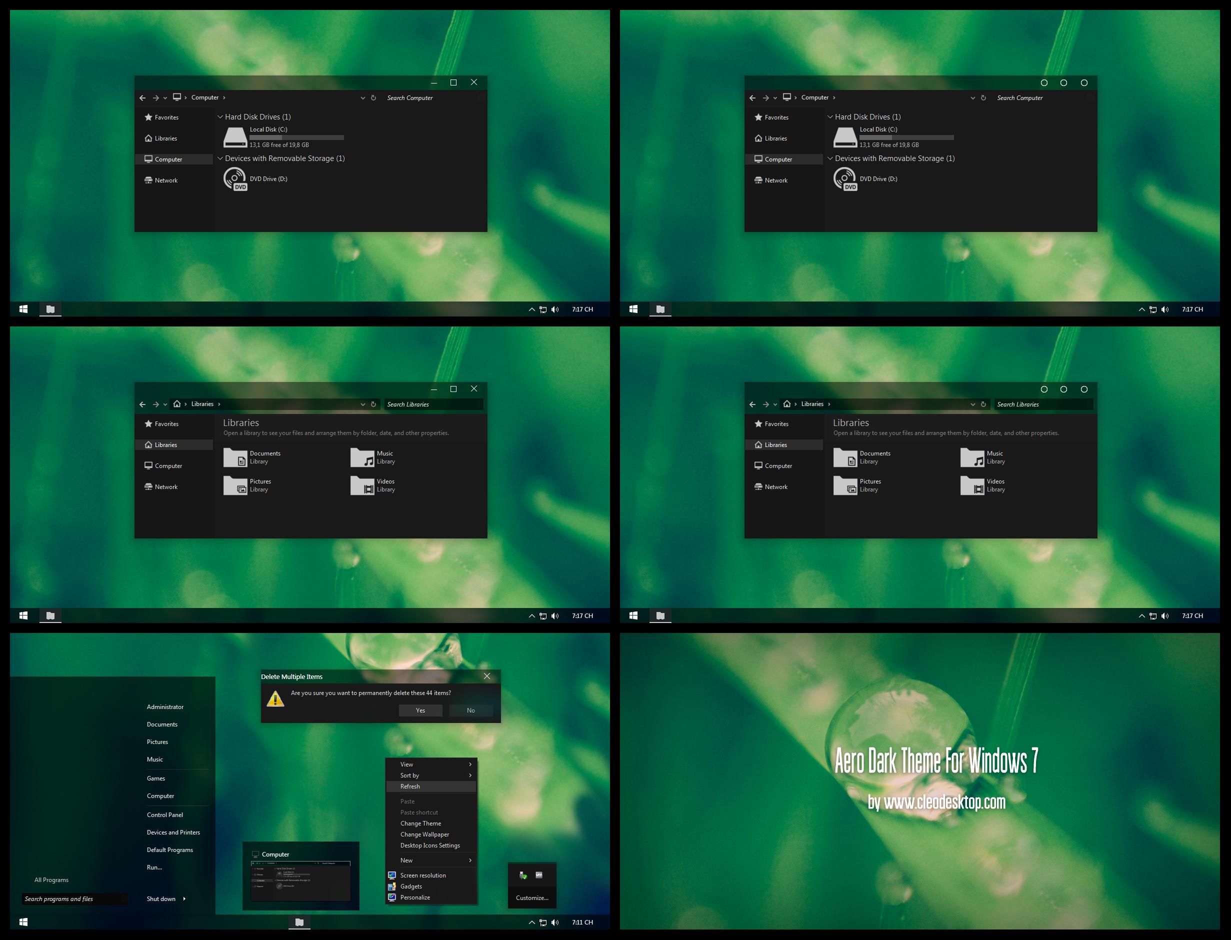 Aero Dark Theme For Windows 7 By Cleodesktop On Deviantart