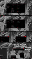 Pure Black Glass Red V2 Theme Win10 October 1809 by Cleodesktop
