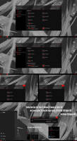 Shadow Black Glass Red Theme Win10 October 1809 by Cleodesktop