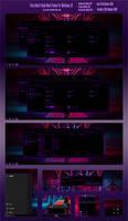 Pure Black Purple Neon Theme Win10 October1809