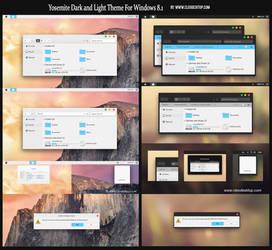 Yosemite Dark and Light Theme For Windows 8.1 by Cleodesktop