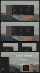 Nost Metro Dark Pink Theme Win10 1903 by Cleodesktop
