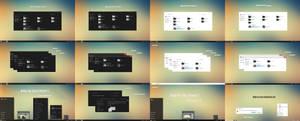 Minimal Dark and White Combo Pack Theme Windows10