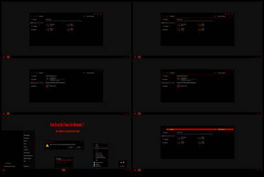 Pure Black RED Theme For Windows 7 by Cleodesktop