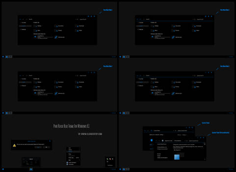 Pure Black Blue Theme For Win8.1