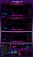 Pure Black Purple Neon Theme Win10 1909
