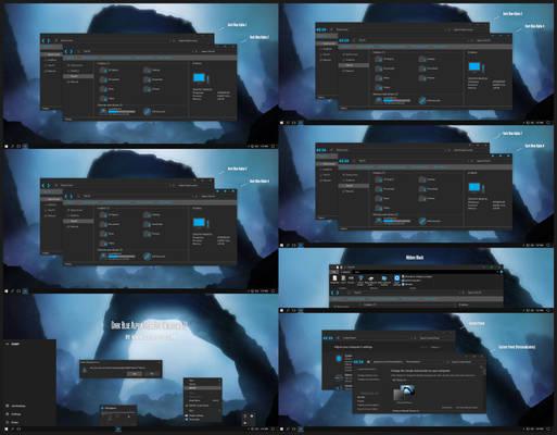 Dark Blue Alpha Theme Win10