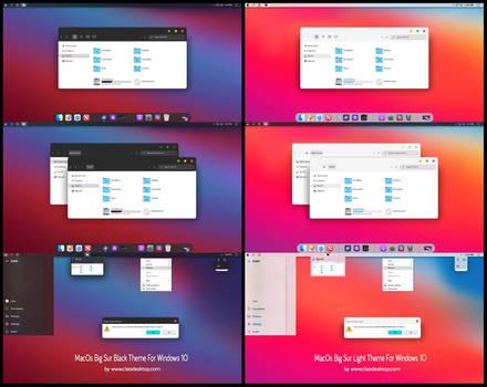 MacOs Big Sur Black And Light Theme Windows 10