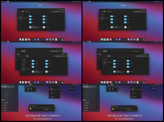 MacOs Big Sur Full Dark Theme Windows10