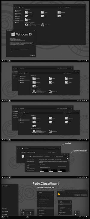 After Dark CC Theme For All Win10 Update 20H2