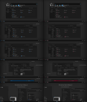 After Dark Blue And Red Theme For All Win10
