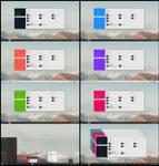 Flat Metro Full Color Theme Win10