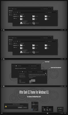 After Dark CC Theme For Windows 8.1