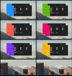 Flat Metro Dark Full Color Theme Win10