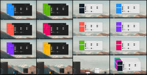 Flat Metro Dark And Light Full Color Theme Win10