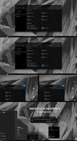 Shadow Black Glass Blue Theme Win10 2004 And 20H2