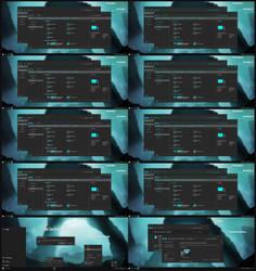 Dark Cyan Alpha Theme Win10