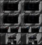 Pure Black Glass Blue Red Theme Win10 update 21H1
