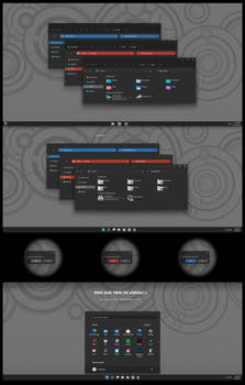 Numix Dark Round And Squares Theme For Win11